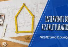 interventi di ristrutturazione 2018