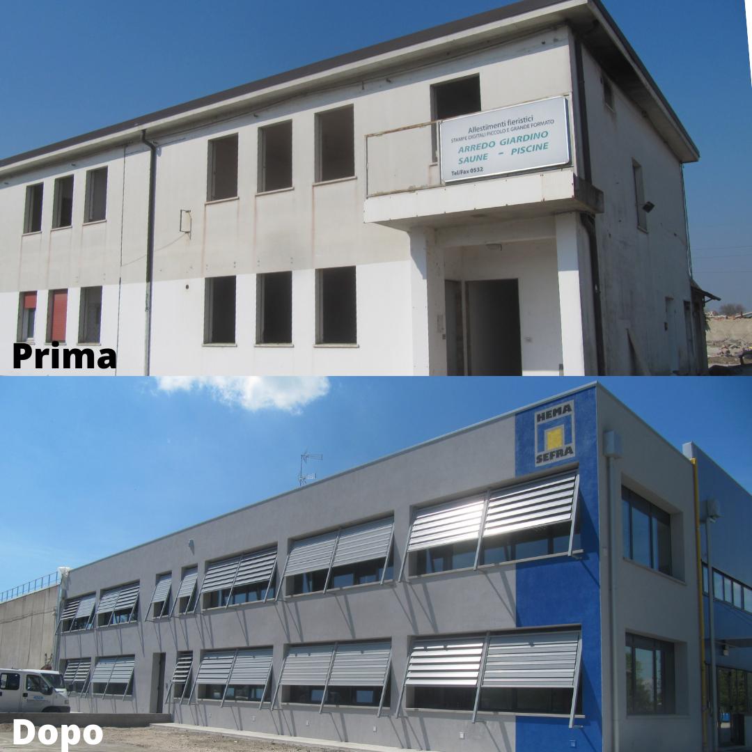 Demolizione e ricostruzione di Edificio Industriale danneggiato dagli eventi sismici del 2012